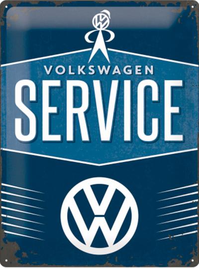 Blechschild »Volkswagen Service«.