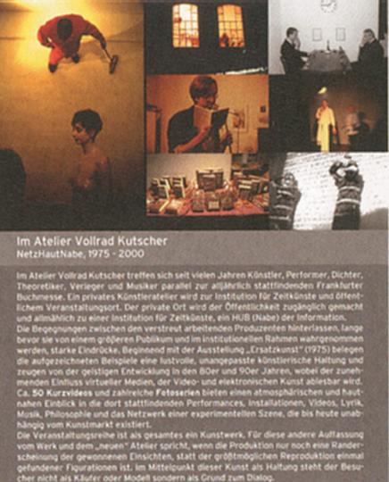 Vollrad Kutscher. NetzHautNabe 1975-2000. Buch und DVD
