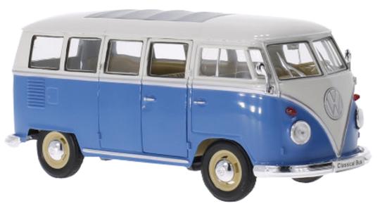 VW T1 hellblau/weiß 1963 - Modell 1:24