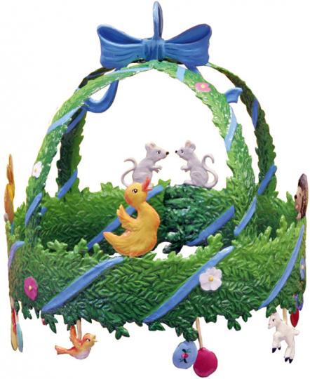 Wandbild Osterkranz in 3D.