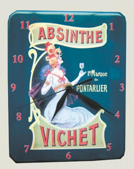 Wanduhr Absinthe Vichet