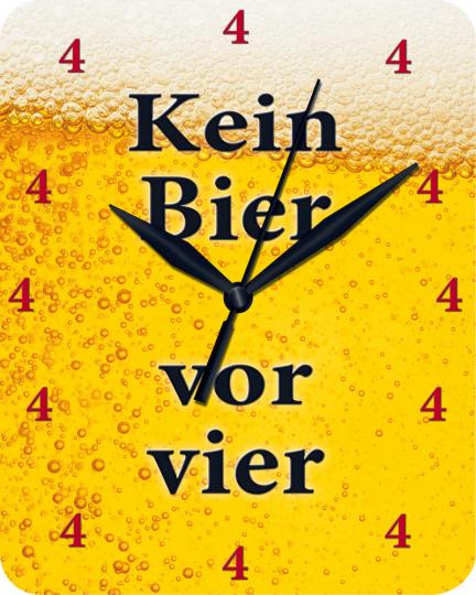 Wanduhr 'Kein Bier vor vier'