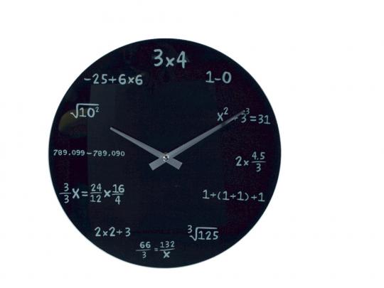 Wanduhr Mathematik.