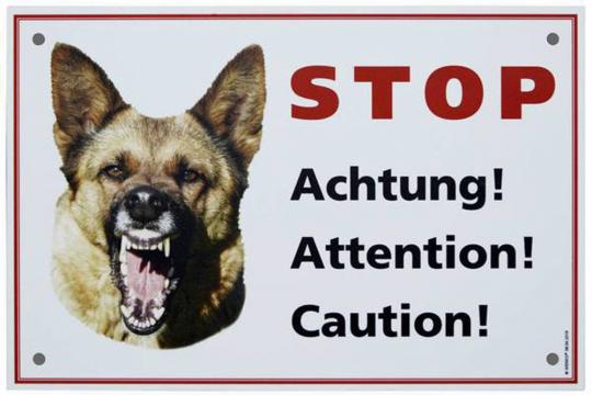 Warnschild Hund.