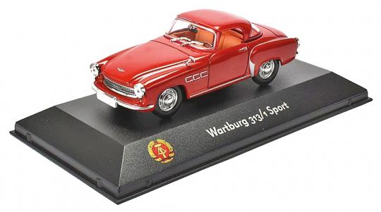 Wartburg 313/1 Sport. DDR Fertigmodell. Maßstab 1:43.