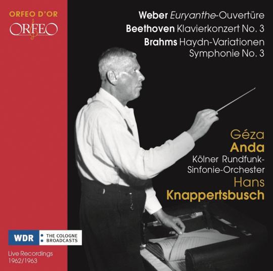 Weber Euryanthe Ouvertüre. Beethoven Klavierkonzert Nr. 3. Brahms Haydn Variationen. 2 CDs.