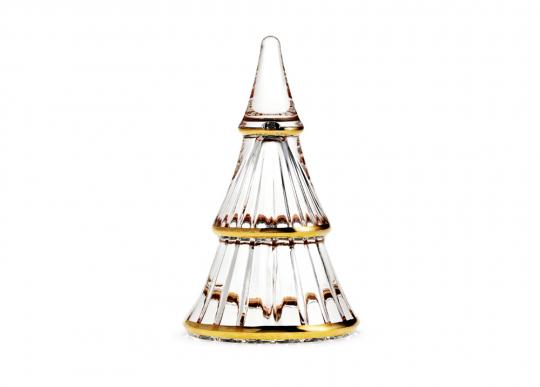 Weihnachtsbaum aus Glas, mittelgroß.