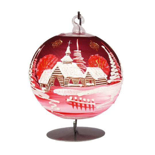Weihnachtskugel für Teelicht, rot.