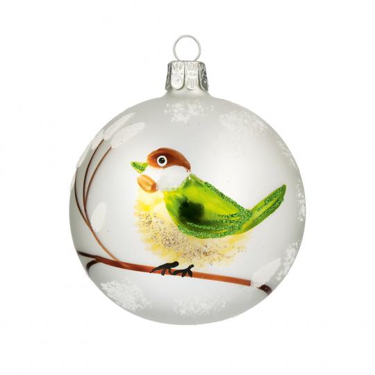 Weihnachtskugel »Grüner Vogel«.