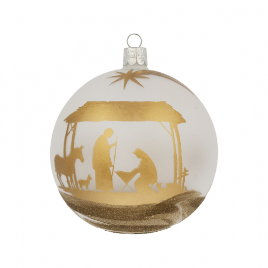 Weihnachtskugel »Krippenszene«.