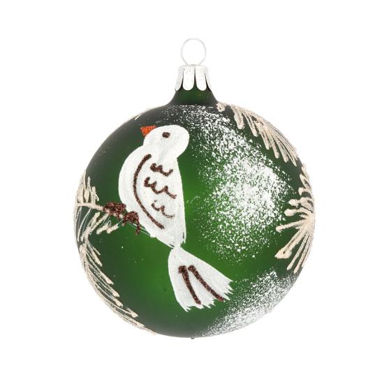 Weihnachtskugel »Weißer Vogel«.