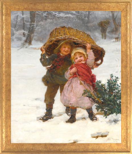 Weihnachtszeit. Frederick Morgan (1856-1927).