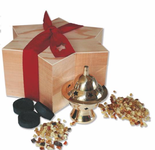 Geschenkset »Weihrauch der Weihnacht«.