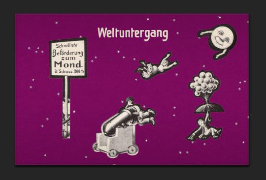 Weltuntergang. 11 historische Postkarten.