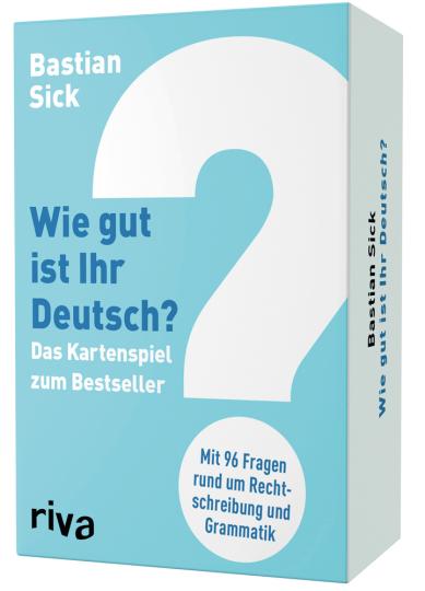 Wie gut ist Ihr Deutsch? Das Kartenspiel zum Bestseller. Mit 96 Fragen rund um Rechtschreibung und Grammatik.