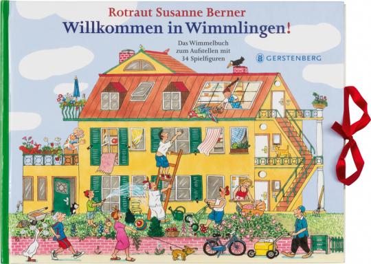 Willkommen in Wimmlingen! Das Wimmelbuch zum Aufstellen mit 34 Spielfiguren.