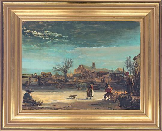 Winterlandschaft. Rembrandt Harmensz van Rijn (1606-1669).