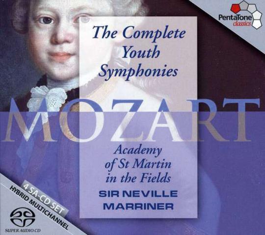 Wolfgang Amadeus Mozart. Die kompletten Jugend-Sinfonien. 4 SACDs.