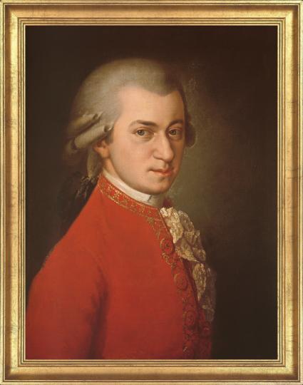 Wolfgang Amadeus Mozart, posthumes Porträt, 1819. Barbara Krafft (1764-1825).