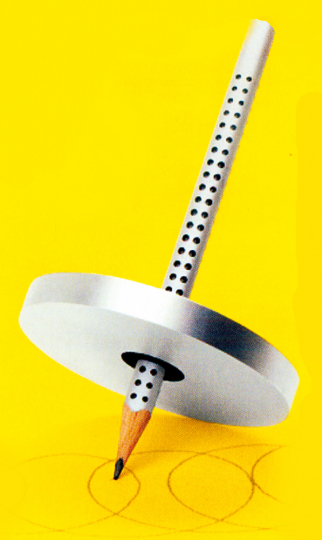 Zeichenkreisel mit Bleistift