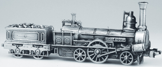 Modell Lokomotive Ernst August (1846).