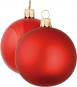 12 Christbaumkugeln. Rot. Bild 1
