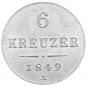 2 Silbermünzen - 6 + 10 Kreuzer Bild 1