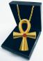 Anch Kreuz - Silber, vergoldet mit Edelsteinen Bild 1