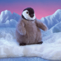 Baby-Pinguin Handpuppe. Bild 1