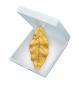 Blatt Anhänger - Silber, vergoldet mit Kette. Bild 1