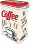 Blechdose »Strong Coffee served here - Let us wake you up!« Bild 1