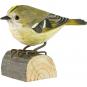 Deko-Vogel Wintergoldhähnchen. Bild 1