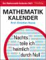 Der Mathematik-Kalender. Kalender 2021. Nachts teile ich heimlich durch Null. Bild 1