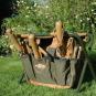 Gartenhocker mit abnehmbarer Gerätetasche. Bild 1