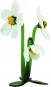 Glasblume »Christrose mit 3 Blüten«. Bild 1