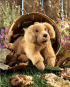 Golden Retriever-Welpe Handpuppe. Bild 1