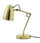 Goldene Schreibtischlampe aus gebürstetem Messing. Bild 1