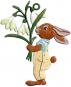 Hase mit Blumenstrauß. Bild 1