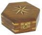 Holzbox mit Windrose-Inlay. Bild 1