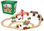 BRIO-Holzeisenbahn-Set in Kunststoffbox. Bild 1