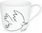 Kaffeebecher »Friedenstaube«, schwarz/weiß. Bild 1