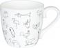 Kaffeebecher »Tierzeichnungen«, schwarzweiß. Bild 1