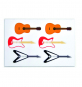 Kikkerland Gitarren Vinylmagnete. Bild 1