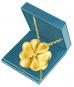 Kleeblatt-Anhänger - Silber, vergoldet Bild 1