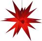 Kleiner Annaberger Faltstern, rot. Bild 1