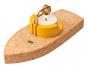 Korkschiff mit Teelicht »Dampfschiff«. Bild 1