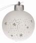 Leuchtende Christbaumkugel, kleine Sterne. Bild 1