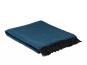 Merinowolldecke dunkelblau. Bild 1