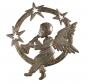 Metallornament »Engel mit Trompete«. Bild 1