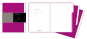 Moleskine Folio Professional 3 Registermappen dunkelrosa. Bild 1